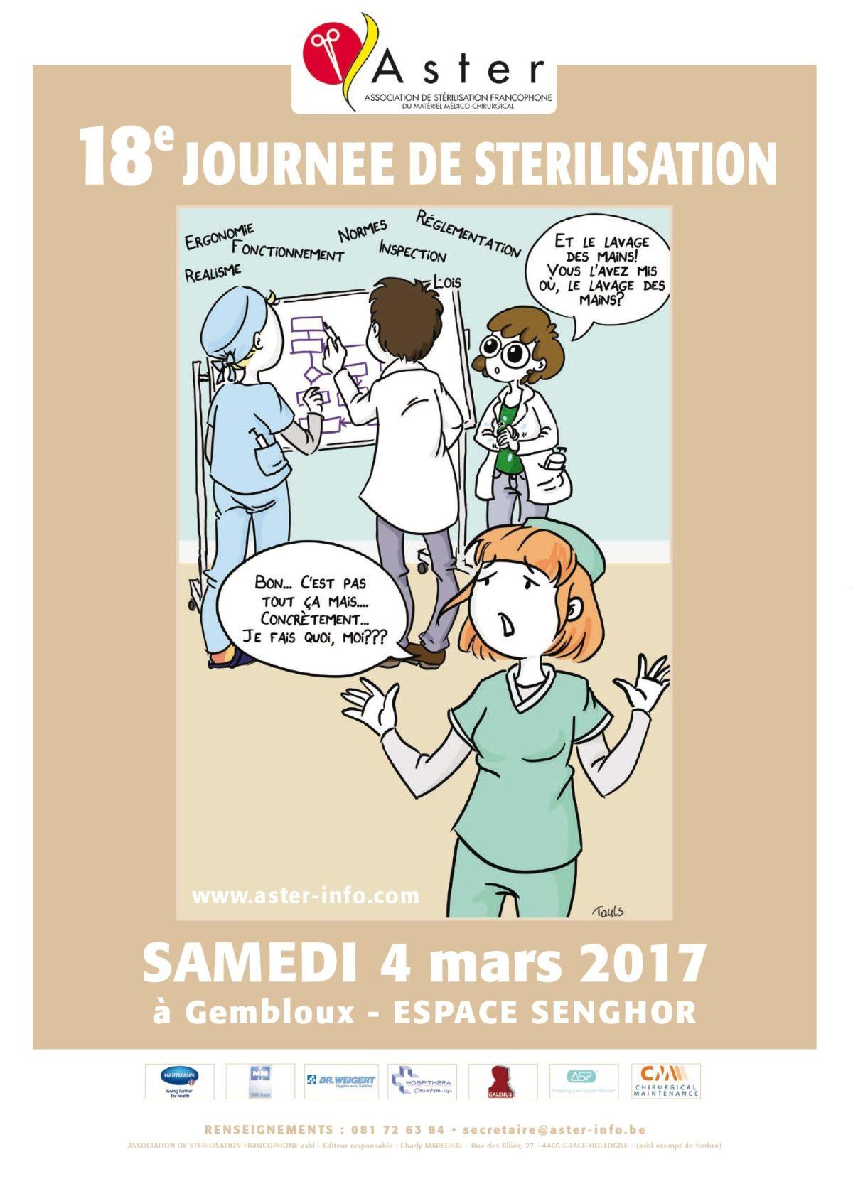 18èmes Journées de Stérilisation de l'ASTER, Gembloux, 2017